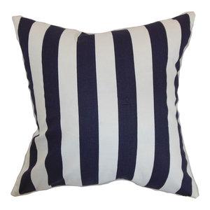The Pillow Collection Tafari Striped Bedding Sham Blue Euro//26 x 26