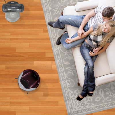 Transitional Family Room by ECOVACS