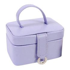 Leather Petite Rectangular Jewel Box, Purple