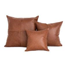 - Tan Leather Cushions - Decorative Cushions