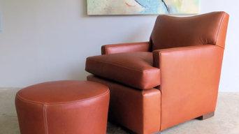 Custom Lounge Chair and Ottoman