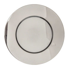 """Elegance 13"""" Chrome Plated Chargers, Set of 4"""