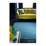 Tweed Tweed Teal Rectangle Plain/Nearly Plain Rug 120x180cm