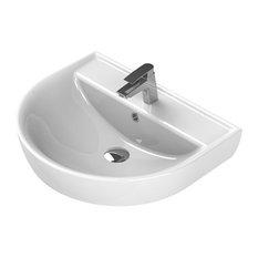 """18"""" Round Wall Mount Ceramic Sink"""