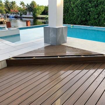 "Miami Vice Patio  _ TRX  "" eco wood "" floors installation"