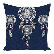Bohemian Hanging Blue Dreamcatcher Throw Pillow, 20x20, With Insert