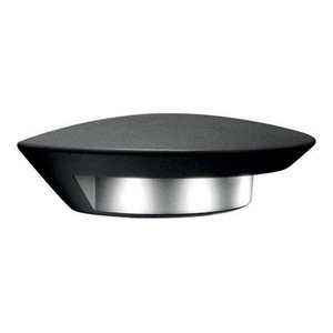 Contemporary Outdoor LED Wall Light, Graphite