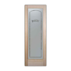 Sans Soucie Art Glass   Pantry Door Classic Arch Design Frosted Glass,  24