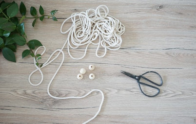 DIY : Réaliser une suspension à plantes en macramé