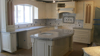 Backsplash- calacatta marble and antique pewter