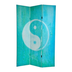 6' Tall Double Sided Yin Yang/Om Canvas Room Divider