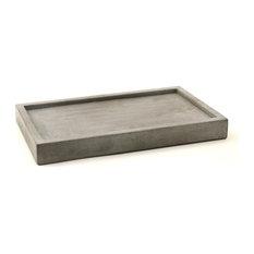 """Concrete Tray 12"""", Natural Concrete"""