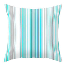 """Turquoise Lines Pattern Pillow Cover, 20""""x20"""""""
