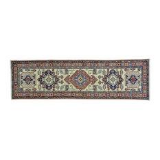 "Super Kazak Handmade Oriental Pure Wool Runner Rug, 2'9""x9'8"""