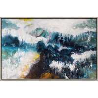 "Moe's ""Whitecaps"" Canvas Painting With Frame"