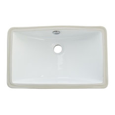 Kingston Brass Courtyard White China Undermount Bathroom Sink With Overflow Hole