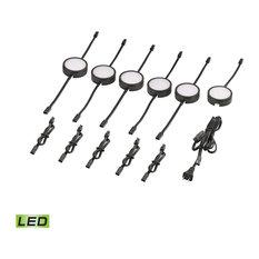 Thomas MLE316-5-31K Tuxedo 6-Piece LED Undercabinet Light Set, Black