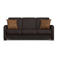 Thora Convert-a-Couch, Brown Renu Leather