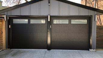 Modern Residential Garage Door Installation-Steel Flush Door