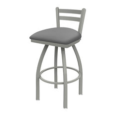 411 Jackie 25-inch Low Back Swivel Counter Stool With Canter Folkstone Gray Seat