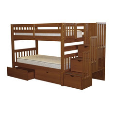 Bunk Bed King Bedz Beds Twin Over Stairway 3 Step And