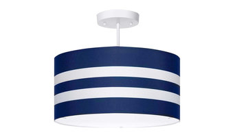 Navy Stripes Light Fixture, 3-Lights