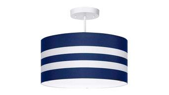 Navy Stripes Light Fixture, 3-Lights