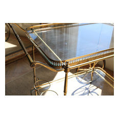 Vintage Brass French drinks trolley/bar cart
