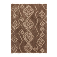 Well Woven Nomad Gracious Modern Beige Moroccan Shag Area Rug, 2' X 3'