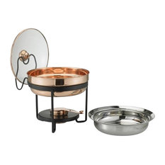 Old Dutch Decor Copper Chafing Dish With Glass Lid
