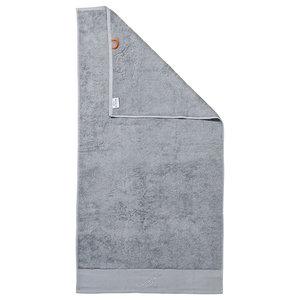 Mr Black Line Stone Grey Beach Towel With Grey Rhinestones, Silver