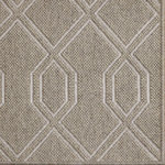 Fibreworks - Luxe Wool Area Rug, Tokyo Taupe, 9'x12' - Luxe by Fibreworks is an exclusive high fashion design in floor coverings.  Constructed of wool and simply bordered, this rug speaks the language of achievement.  Place this rug in a jewel box closet or grand entryway for maximum impact.  When Luxe is there, you have arrived.