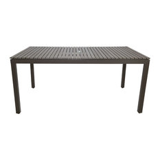 Riviera Outdoor Rectangle Dining Table, Gray