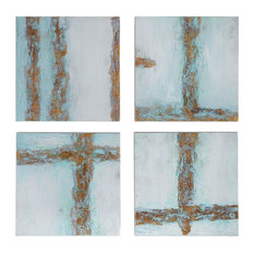 4-Piece Uttermost Cross Roads Contemporary Art