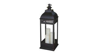 San Nicola Triple Led Candle Lantern, Bronze