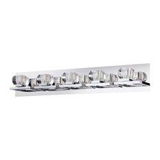 Eurofase Casa - Five Light Bath Bar, Chrome Finish with Clear Glass