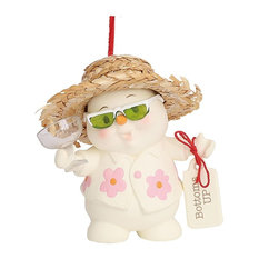 Department 56 - Dept 56 Snowpinions Bottoms Up Tropical Christmas Tree Ornament - Christmas Ornaments