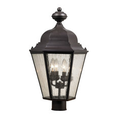 Cornerstone Cotswold 4 Light Exterior Post Lamp, Oil Rubbed Bronze