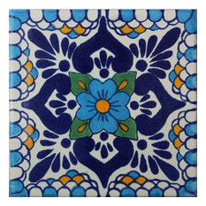 Fine Crafts & Imports - 2x2 36 pcs Montijo Talavera Mexican Tile - Wall and Floor Tile