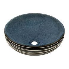 Artisan Ceramic Vessel Sink, Sink Only, No Additional Accessories