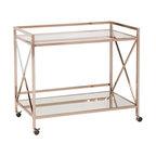Maxton Bar Cart, Metallic Gold Finish