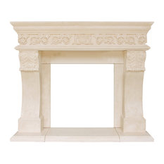 President Series Churchill Cast Stone Fireplace Mantel