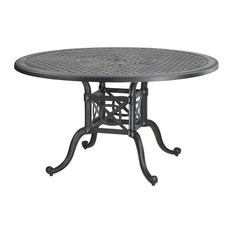 """Grand Terrace 48"""" Round Dining Table, Midnight Gold"""