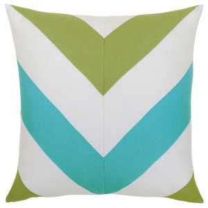 Elaine Smith Poolside Chevron Pillow