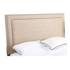 Abbyson Living Cora Linen Upholstered Full Queen Headboard, Wheat