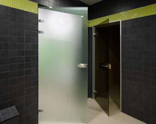 Маятниковые двери, стеклянные перегородки и зеркала для фитнес-клуба - Межкомнатные двери