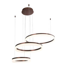 Eurofase Minuta Frosted LED Three-Tier Halo Chandelier