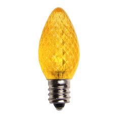 Yellow LED C7 Christmas Light Bulbs - Pack of 25