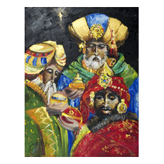 The Three Wise Men Flag Canvas