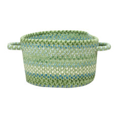 "Waterway Braided Basket, Green, 16""x16""x9"""